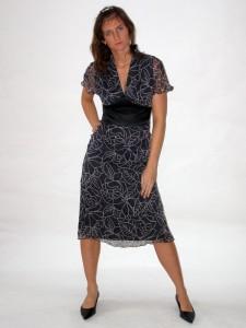 Společenské šaty s krátkým rukávkem 2207 Andrea Martiny 36 9582c27a55
