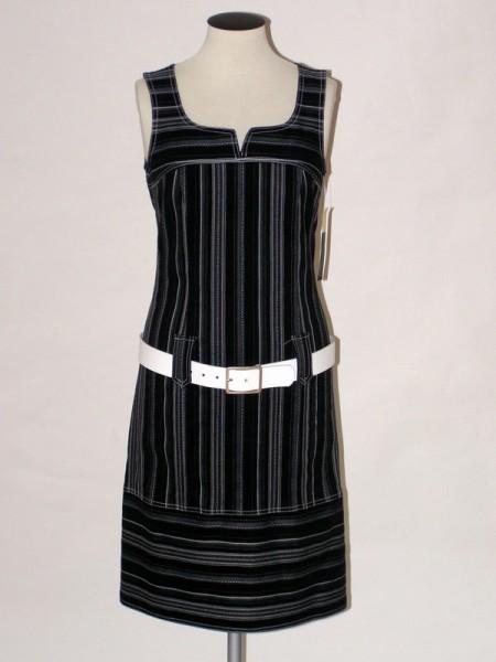 Dámské šaty bez rukávů černé 0108 Andrea Martiny 38 c1cb9b81aa