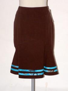 Dámská sukně letní hnědá 1406 Andrea Martiny 44 590e052b1c