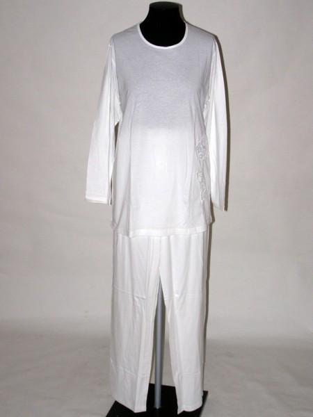 6f8be5027f1 Pyžamo dámské s dlouhým rukávem 9007 Prako bílé 40   42