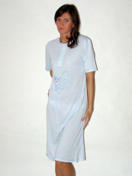 Noční košile s krátkým rukávem s propínáním 3a0b2f41ae