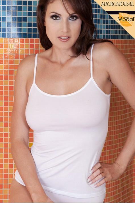 Spodní dámská košilka z modalu Hanka Spoltex bílá bd077e6775