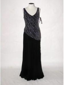Společenské šaty dlouhé s šálou 0209 Andrea Martiny 38 38eb8020e3