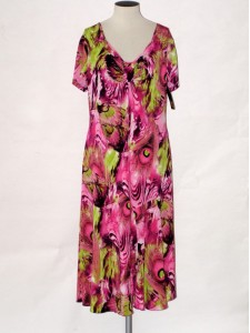 Dámské elegantní letní šaty s krátkým rukávem Andrea Martiny 46 bb28851151