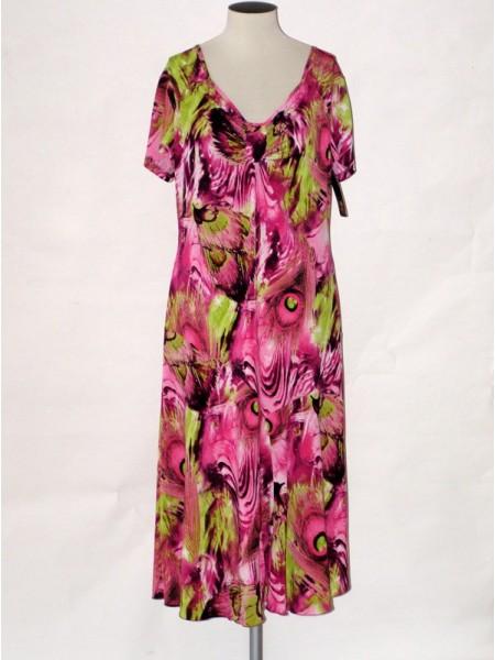 Dámské elegantní letní šaty s krátkým rukávem Andrea Martiny 46 86a7359a43