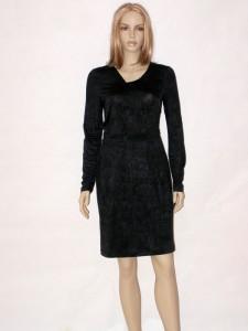 Černé elegantní šaty s dlouhým rukávem 1212 Andrea Martiny 36 8a01bb18424