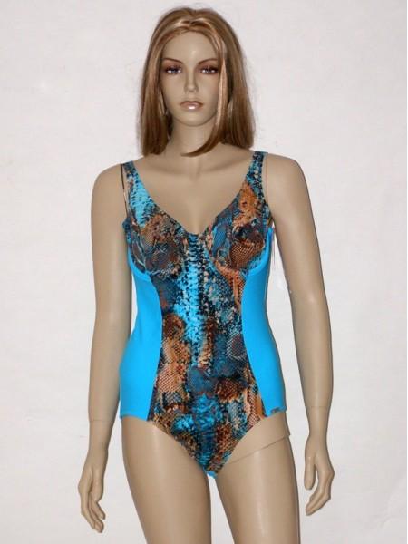Tyrkysově modré celkové plavky s kosticí 8353 Timo 85 B 0a0c2ed794