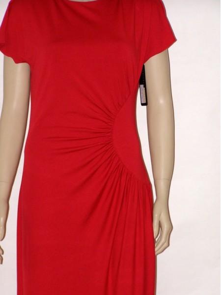 Červené letní šaty s krátkým rukávem 1113 Andrea Martiny 44 2602e6b320