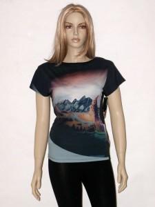 Černé tričko s fotoobrázkem 1313 Andrea Martiny 44 d9612b3c86