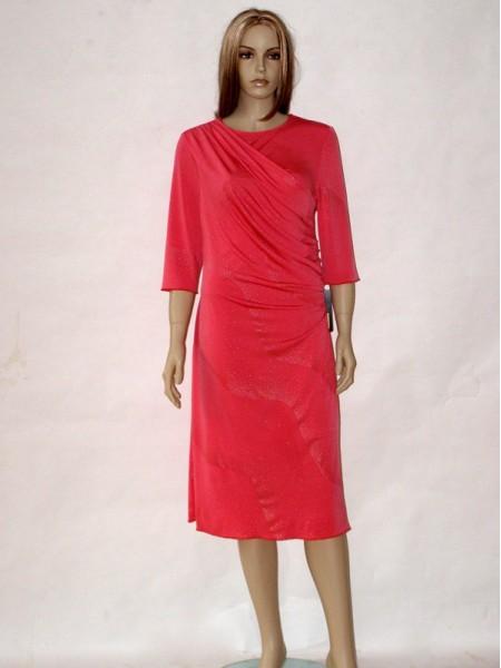 Lososové společenské šaty s třičtvrtečním rukávem 0713 Andrea. dd364358baf