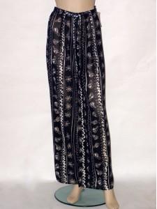 Modré letní dlouhé kalhoty 9054 Izabela 36 5d3b477235