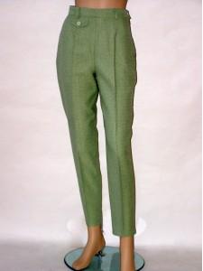 Zelené úzké kalhoty do pasu 8010 Izabela 44 e82d9b37a5