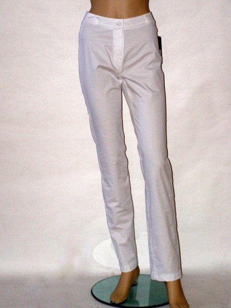 5f3360d1f73 Bílé letní úzké kalhoty 0912 Andrea Martiny 36