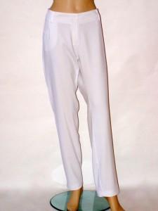 355418392af Bílé elegantní úzké kalhoty 1013 Andrea Martiny 46
