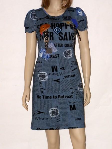 7d0b50397ec6 ... Šedé úpletové šaty se vzorem 6413 Andrea Martiny 40