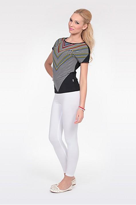 Dámské vypasované letní elegantní tričko s proužky 2414 Andrea Martiny 44 4a2d7fa28a
