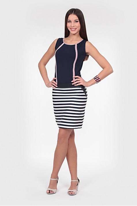bea4d669d7c Modro bílá pruhovaná sukně 0614 Andrea Martiny 40