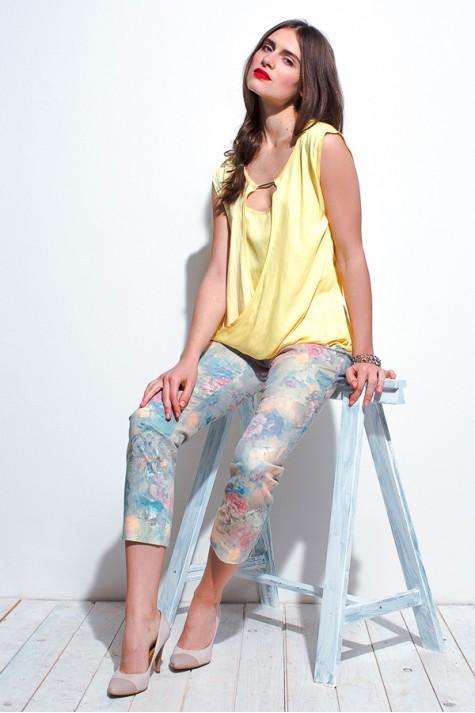Letní krátké úzké kalhoty 0915 Andrea Martiny 36 09dde4e53e