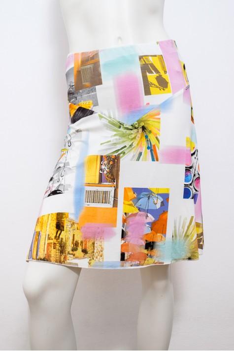 Letní vzorovaná zvonová sukně 0315 Andrea Martiny 38 08b81c29ef