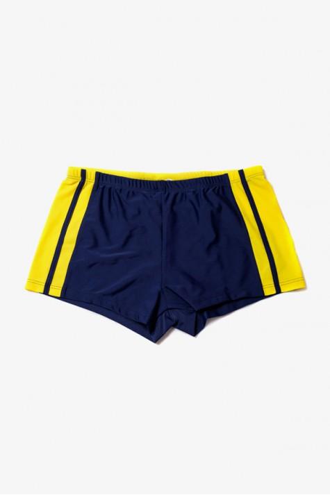 Modro žluté páské plavky s nohavičkou 8406 Timo XL 7cb8275ffa
