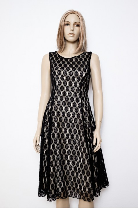 Černé společenské krajkové šaty 1315 Andrea Martiny 40 fcf0018ed5