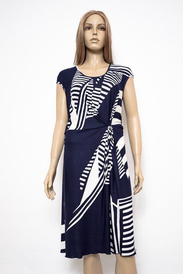 b1f79d51167 Modro bílé letní elegantní šaty 2316 Andrea Martiny 40