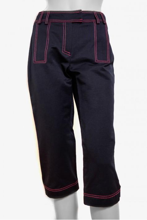 Černé tříčtvrteční kalhoty 2608 Andrea Martiny 36 c4ceec26c7