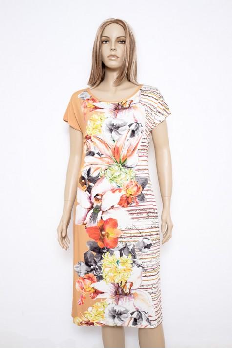 Elegantní letní šaty s krátkým rukávem 0316 Andrea Martiny 42 d1540475a8