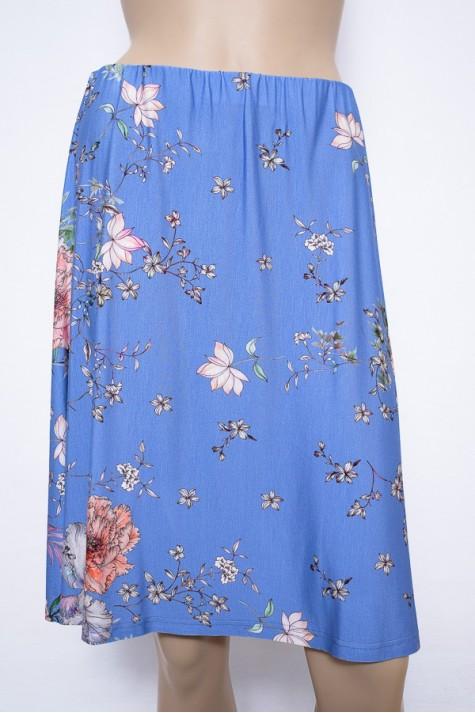 Modrá květovaná zvonová sukně 1016 Andrea Martiny 40 fd64d5a3ef