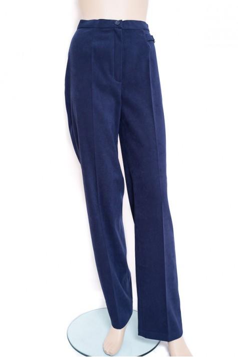 Modré kalhoty klasického střihu do pasu 9254 Izabela 38 5afb4bf560