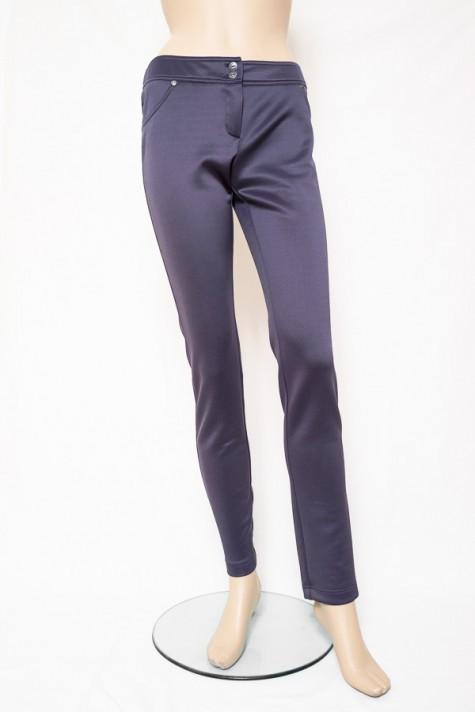 Šedé úpletové úzké kalhoty 2414 Andrea Martiny 38 dcd7ac62b0