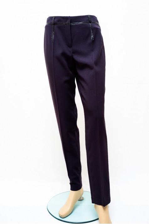 Antracitově černé elegantní kalhoty 2116 Andrea Martiny 38 7de4ff8c33