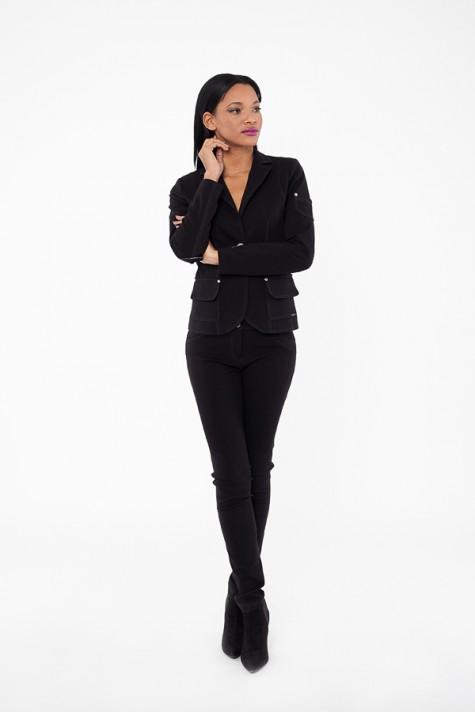 Černé úzké elastické kalhoty 3117 Andrea Martiny 38 4ebc46907b