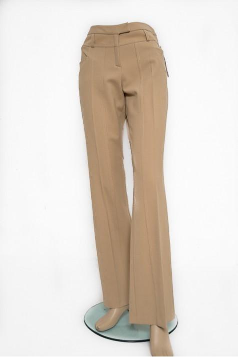 Béžové zimní kalhoty s proševy a kapsami 4805 Andrea Martiny 38 07f83272c5