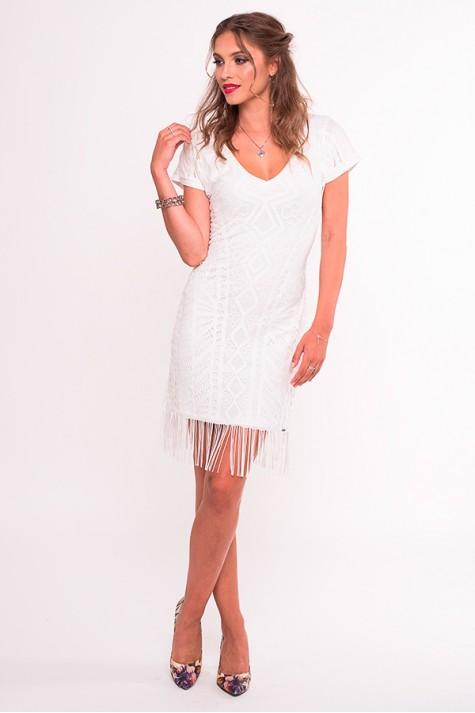 0c419739b6a8 Smetanové šaty s třásněmi 1218 Andrea Martiny 38