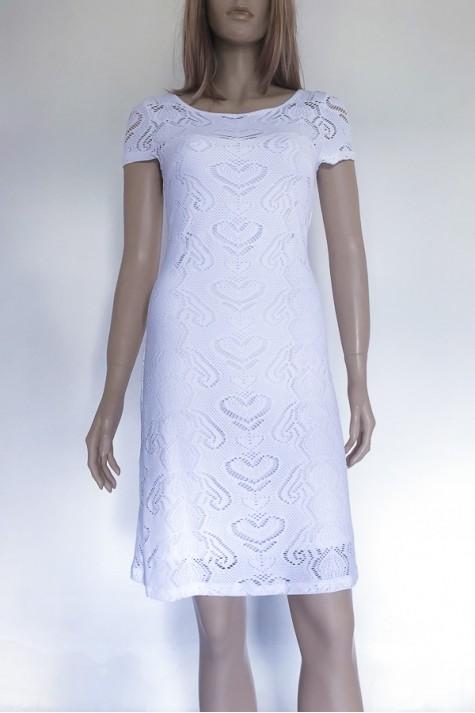 Bílé krajkové šaty s krátkým rukávkem 5618 Andrea Martiny 36 4cc5207c26