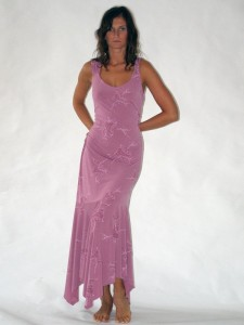 Růžové dlouhé šaty bez rukávů Sabatti 42, 46