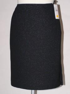 Společenská sukně úzká černá s podšívkou 026900 Izabela 36 98752b5078