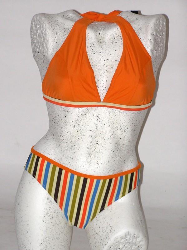 Dámské dvoudílné plavky trojúhelníky oranžové 31452 Barley