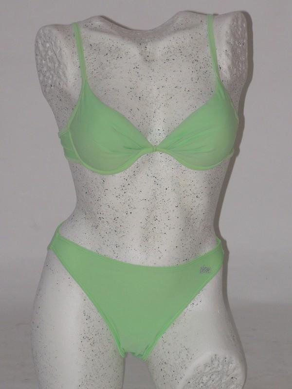 Dámské dvoudílné plavky push up zelené 4103 Trico line 75 A