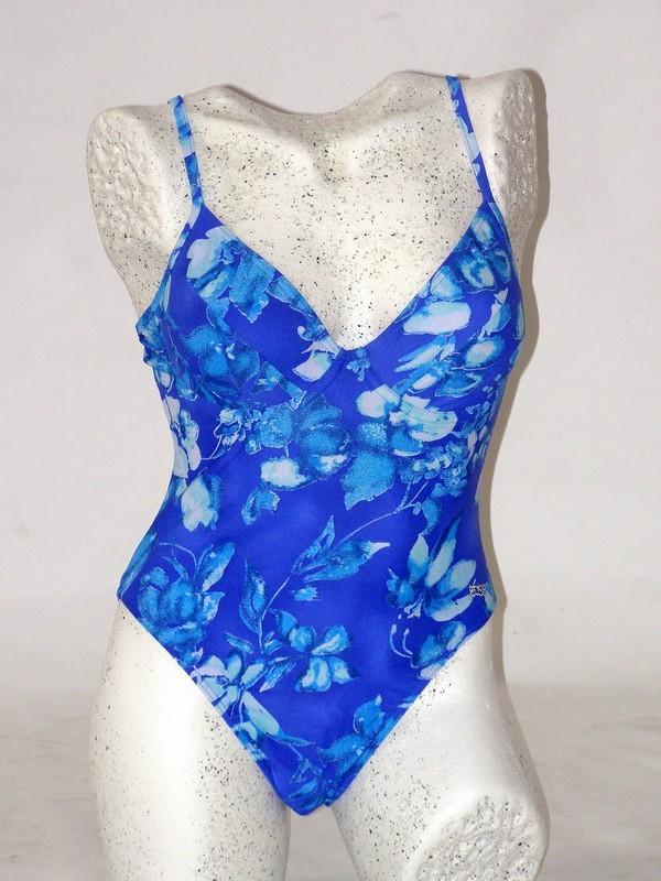 Dámské celkové plavky modré košíčky B