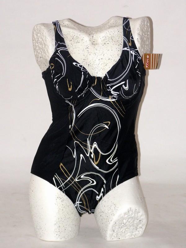 Dámské celkové plavky černé s kosticí 8344 Timo 90 B, 105 B