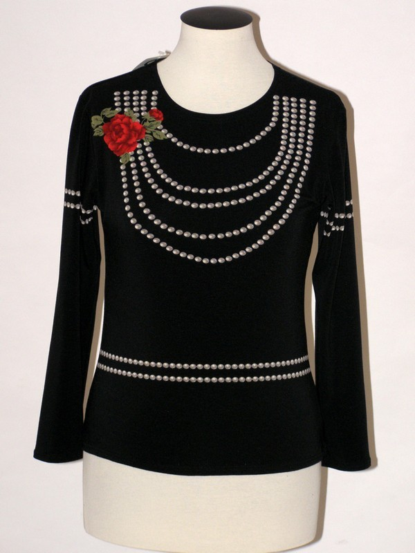 Dámské elastické tričko černé 618907