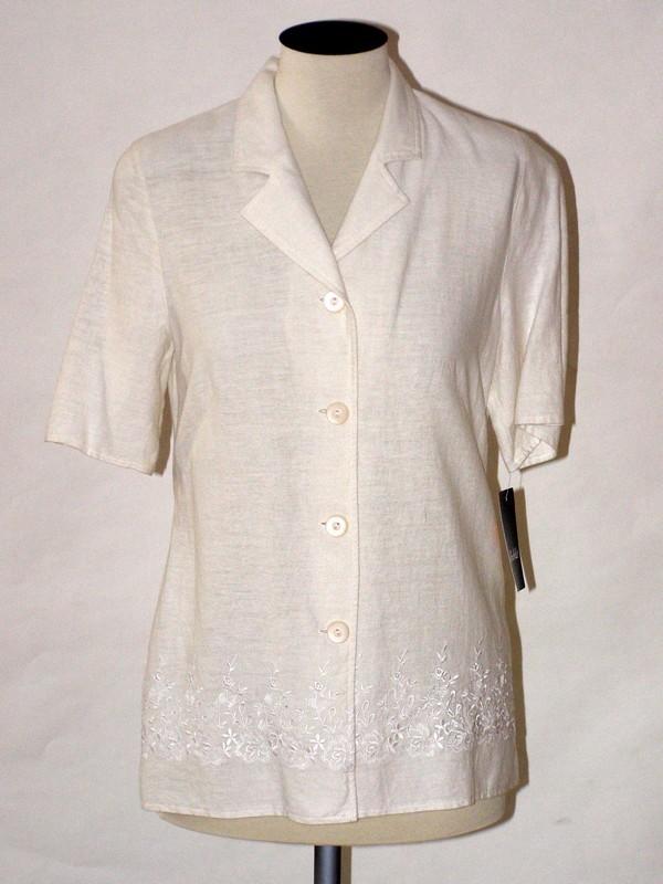Dámské sako krátký rukáv bílé 110700 Izabela 38