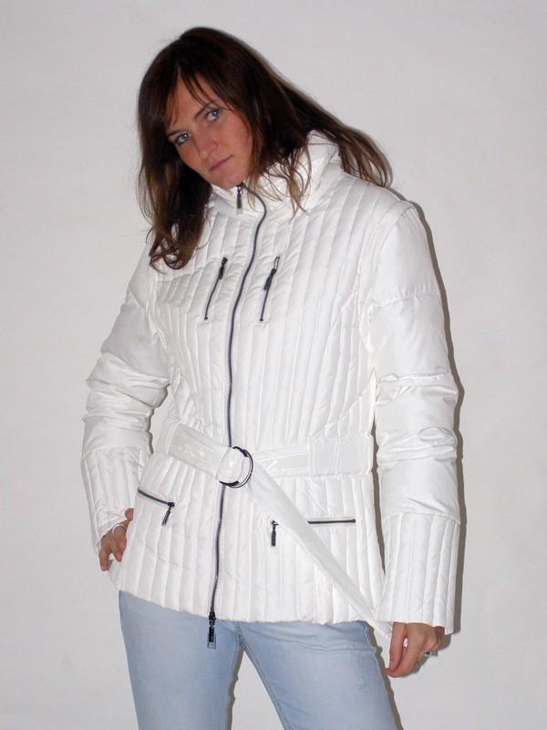 Zimní péřová bunda i vesta bez rukávů 3204 Veltex bílá M/36-38