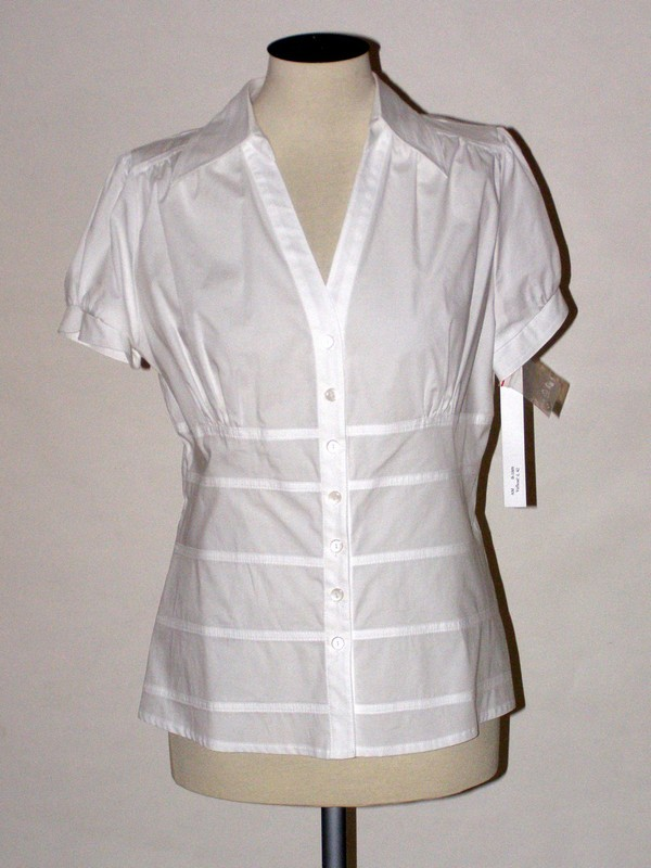 Dámská bílá košile s krátkým rukávem 1009 Andrea Martiny 42