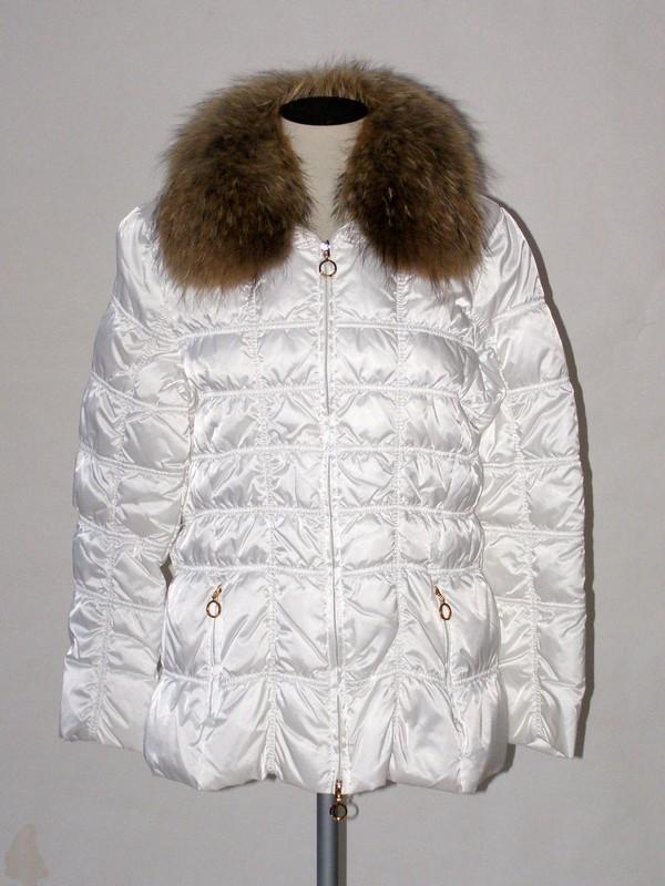 Dámská zimní péřová prošívaná bunda bílá 1006 Veltex 46
