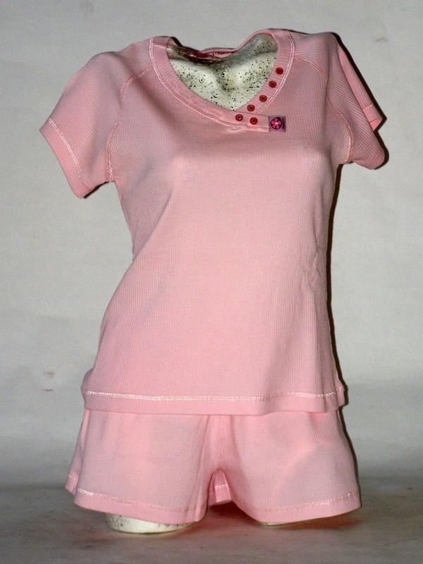 Dámské bavlněné pyžamo Timo růžové