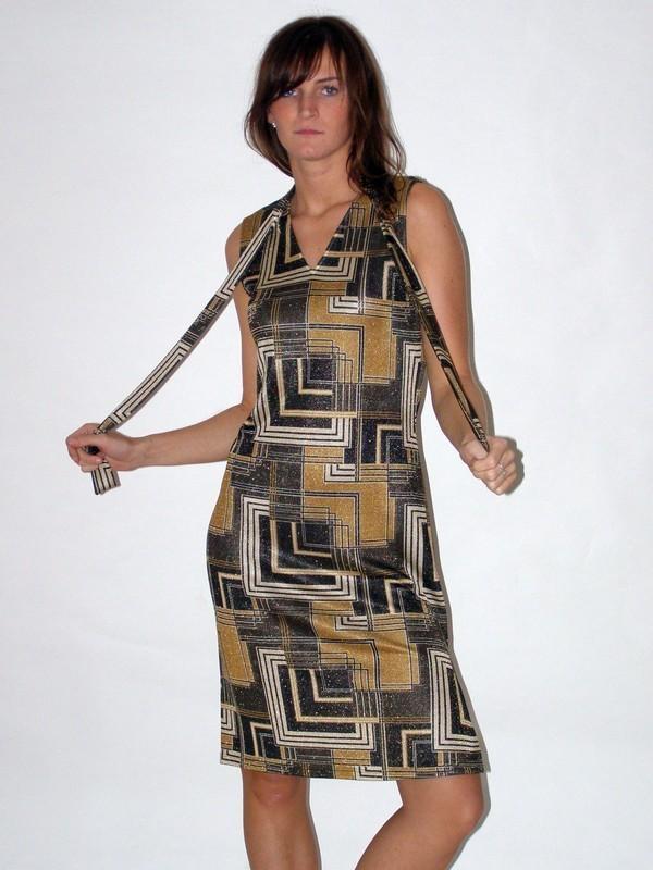 Krátké společenské elastické šaty 130901 Izabela 40