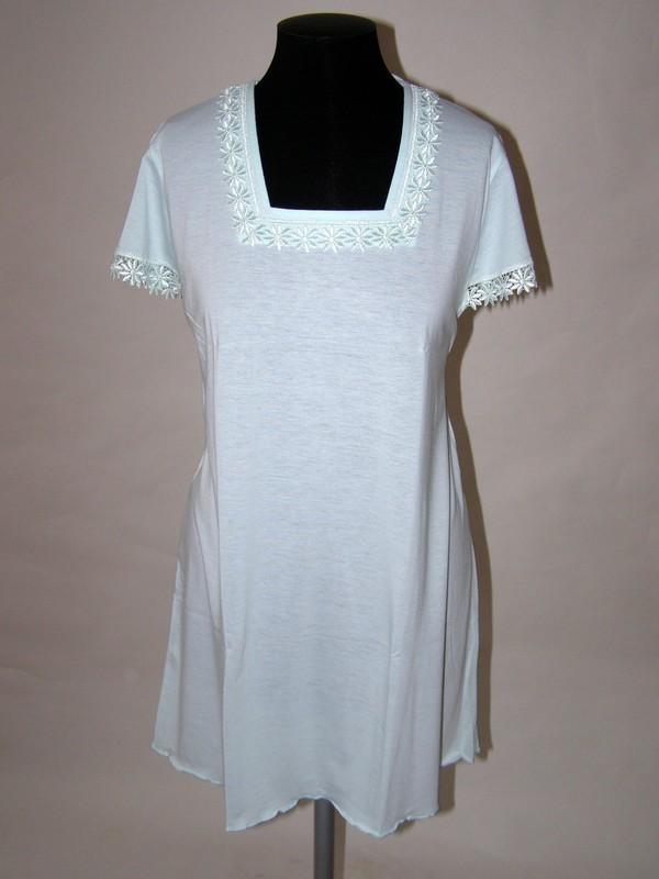 Krátká noční dámská košile s krátkým rukávem 6069 Prako 40 / 42